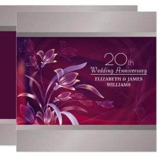 20th Wedding Anniversary Party Invitations