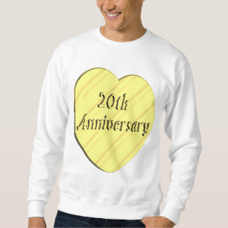 20th Wedding Anniversary Pull Over Sweatshirts