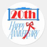 20th Wedding Anniversary Stickers