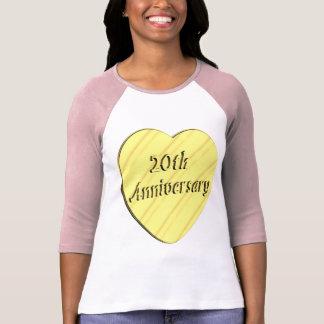 20th Wedding Anniversary Tee Shirts