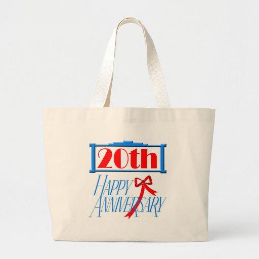 20th Wedding Anniversary Tote Bags