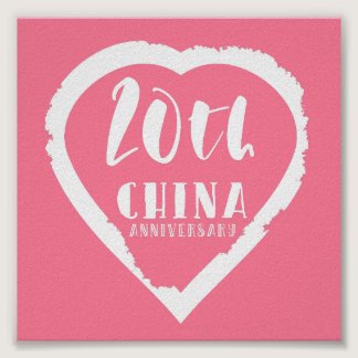20th Wedding anniversary traditional china Poster