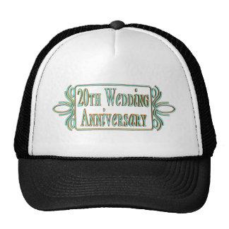 20th Wedding Anniversary Trucker Hat
