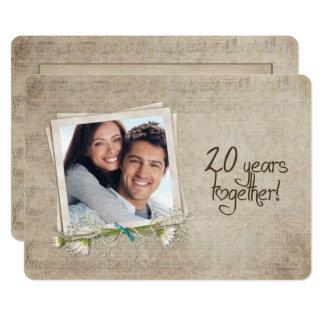20th Wedding Anniversary Vow Renewal Card