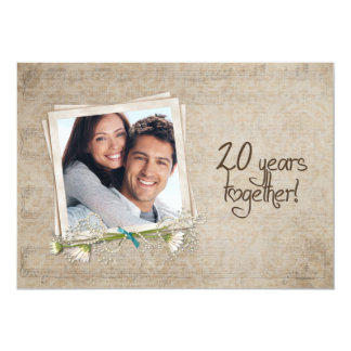 20th Wedding Anniversary Vow Renewal Card