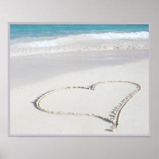 20x16 Heart on the Beach Wall Art