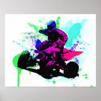 20x16 Splatter Poster Semi-Gloss
