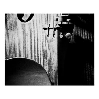 20x16 Violin Poster - B/W