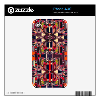 20x20 red brown iPhone 4S skin