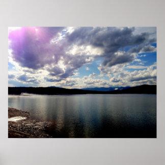 20x28 Purple Clouds Over Ashokan Reservoir Poster