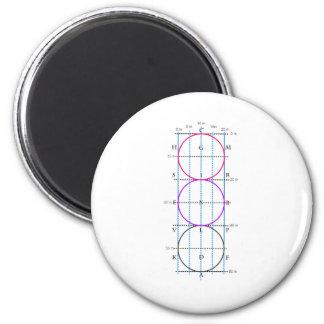 20x60m Dressage Court **Circles** 2 Inch Round Magnet