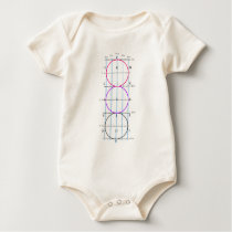 20x60m Dressage Court **Circles** Baby Bodysuit