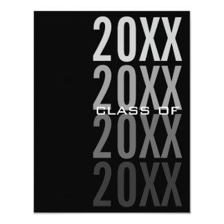 20XX Black Graduation Party Invitations