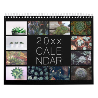 20XX Custom Botanical Succulents - 2019 Calendar