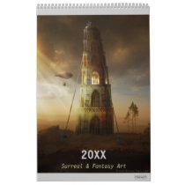 fantasy, science fiction, digital art, art calendars, houk, gothic, surreal, fairytales, funny, 2016 calendars, cool, dreamland, towers, castle, countryside, spiritual, baloon, dreams, mysterious, art, eerie, country, landscape, fish, magic, windmill, unique, cottage, artworks, chic, home, fiction, bestseller, awesome, wonderful, wonderland, spirit, Calendário com design gráfico personalizado