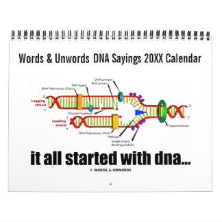 20XX DNA Sayings Calendar (DNA Replication Humor)