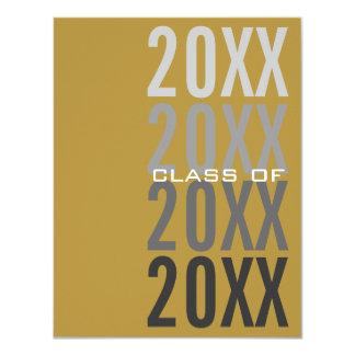 20XX Gold Graduation Party Invitations