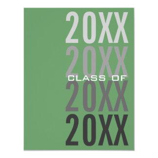 20XX Green Graduation Party Invitations