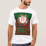 20XX Happy New Year! Scotland Pattern T-Shirt