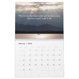 20xx | Inspirational with photos and messages Calendar