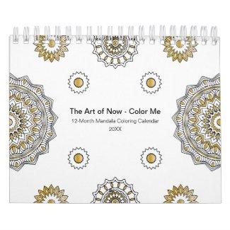 20XX Mandala Coloring Calendar