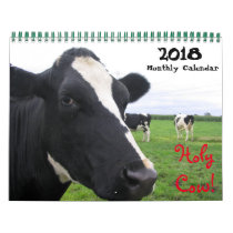 20XX Monthly Cow Wall Calendar Heifers Cattle Cows