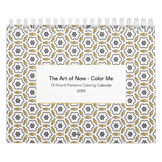 20XX Patterns Coloring Calendar