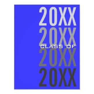 20XX Royal Blue Graduation Party Invitations
