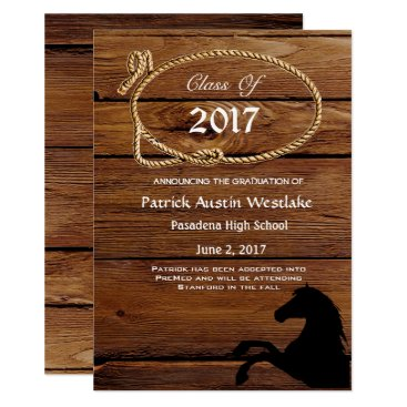 simply_rantastic 20XX Wood, Rodeo Style Graduation Announcement