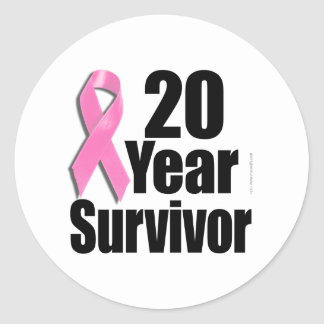 20y Survivor Des 1.png Classic Round Sticker