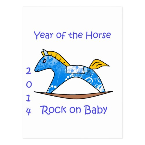 2104 Year of the Horse - Blue Postcard Sales 3909