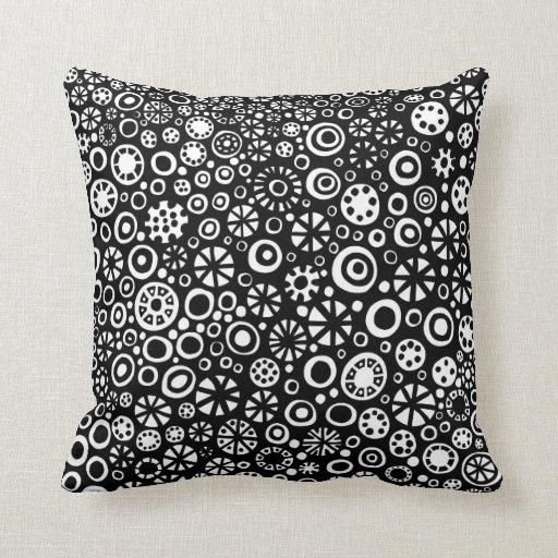 210712 Black And White Throw Pillows Zazzle