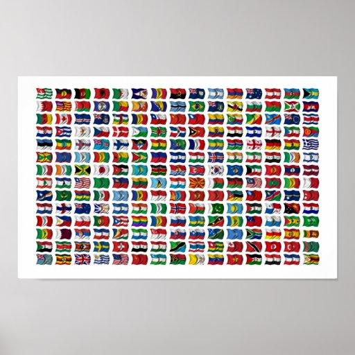 210 banderas del mundo - poster