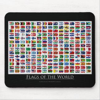 210 banderas del mundo tapete de ratones