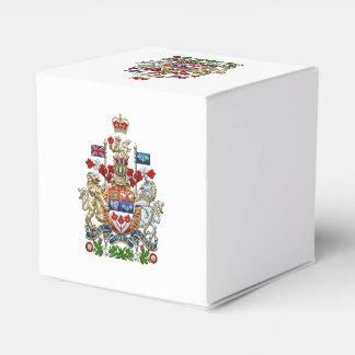 [210] Escudo de armas de Canadá [3D] Cajas Para Detalles De Boda