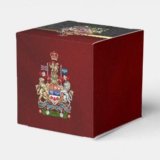 [210] Escudo de armas de Canadá [3D] Cajas Para Regalos De Boda