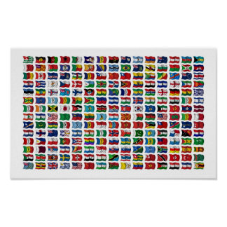 210 Flags of the World - Poster