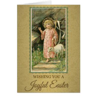 210 Happy Joyful Easter Sunday Greeting Card