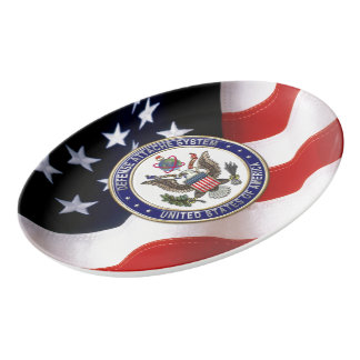 [210] U.S. Defense Attaché System (DAS) Emblem [3D Porcelain Serving Platter