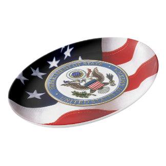 [210] U.S. Department of State (DoS) Emblem [3D] Porcelain Serving Platter
