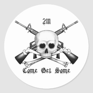 2111 Armorer Come Get Some Classic Round Sticker
