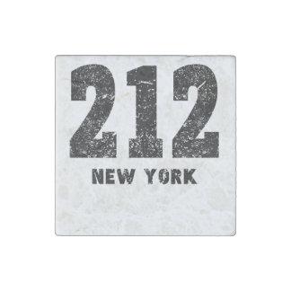 212 New York Distressed Stone Magnet