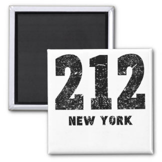 212 New York Distressed 2 Inch Square Magnet