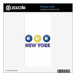 212 Nueva York Calcomanías Para iPhone 4S