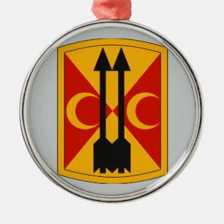 212th Field Artillery Brigade Round Metal Christmas Ornament