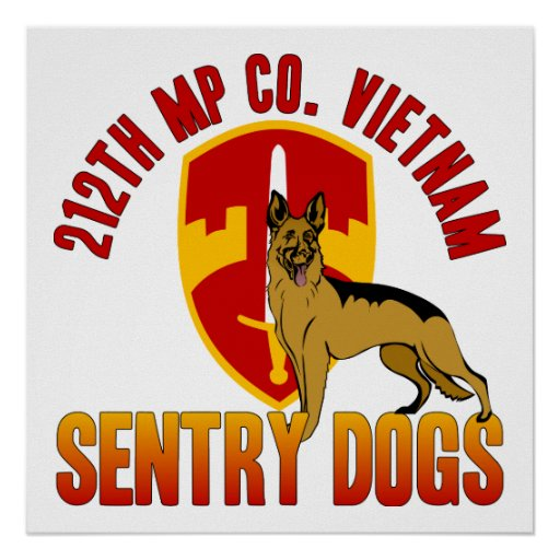 212th MP Co. - Vietnam Poster