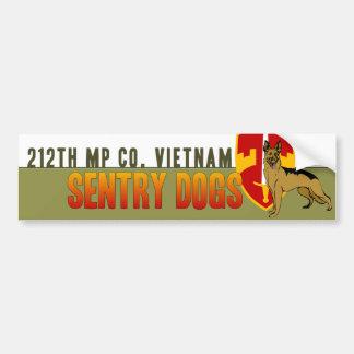 212th MP Co. Vietnam - Sentry Dogs Car Bumper Sticker