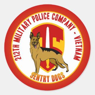 212th MP Co. Vietnam - Sentry Dogs Round Sticker