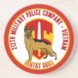 212th MP Co. Vietnam - Sentry Dogs Sandstone Coaster