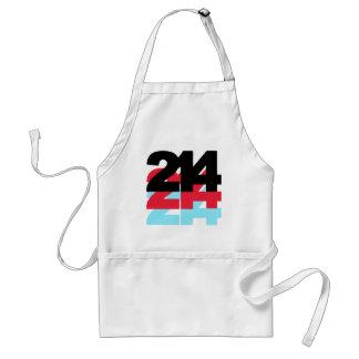 214 Area Code Adult Apron